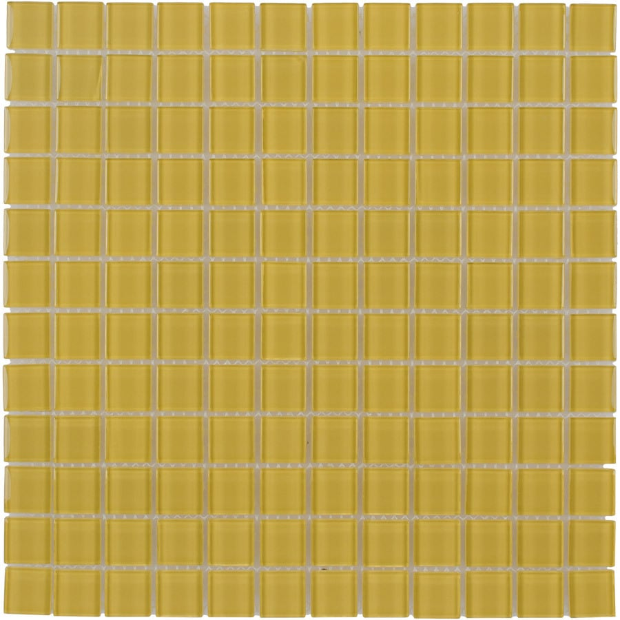 Elida Ceramica Sunflower Uniform Squares Mosaic Glass Wall Tile (Common: 12-in x 12-in; Actual: 11.75-in x 11.75-in)