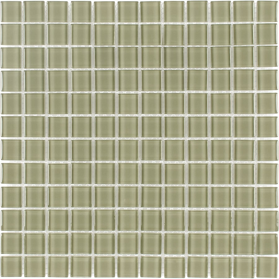Elida Ceramica Nature Uniform Squares Mosaic Glass Wall Tile (Common: 12-in x 12-in; Actual: 11.75-in x 11.75-in)