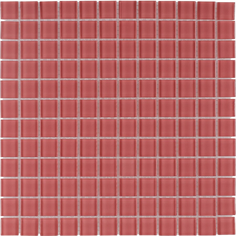 Elida Ceramica Rose Uniform Squares Mosaic Glass Wall Tile (Common: 12-in x 12-in; Actual: 11.75-in x 11.75-in)
