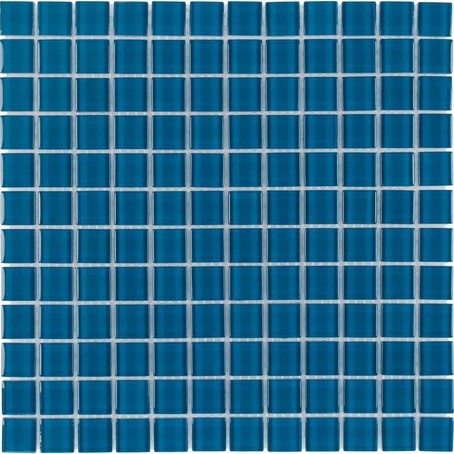 Shop Elida Ceramica Sapphire Glass Mosaic Square Indoor/Outdoor Wall ...