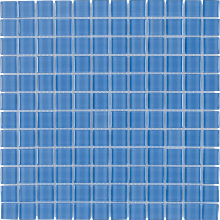 Elida Ceramica Bay Breeze Uniform Squares Mosaic Glass Wall Tile (Common: 12-in x 12-in; Actual: 11.75-in x 11.75-in)