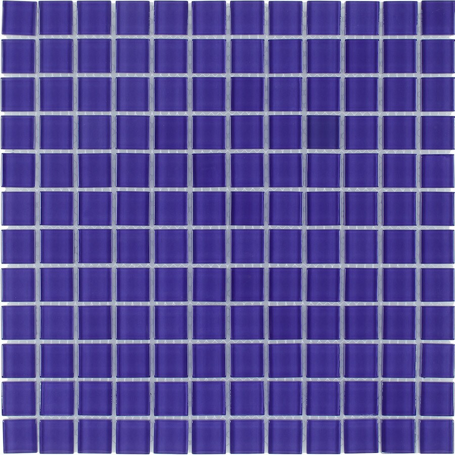 Elida Ceramica Lavender Uniform Squares Mosaic Glass Wall Tile (Common: 12-in x 12-in; Actual: 11.75-in x 11.75-in)