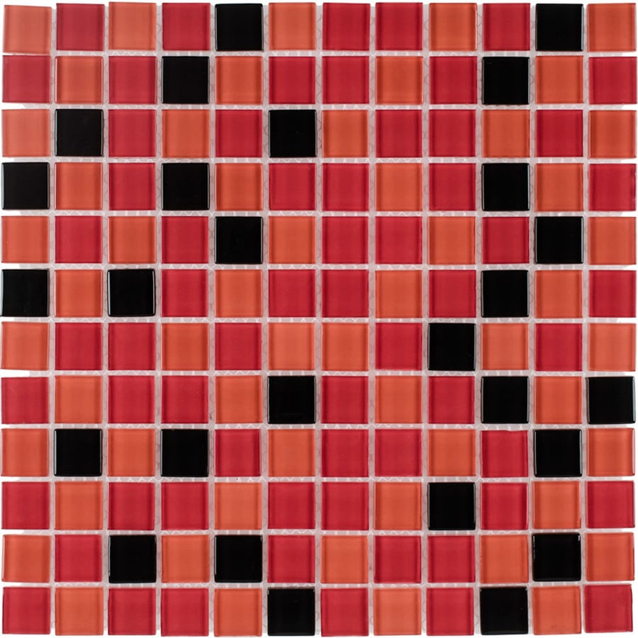 Elida Ceramica Passion Uniform Squares Mosaic Glass Wall Tile (Common: 12-in x 12-in; Actual: 11.75-in x 11.75-in)