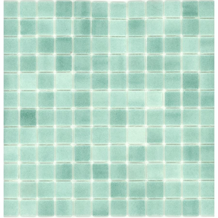 Elida Ceramica Recycled Artic Green Gl Mosaic Square Indoor Outdoor Wall Tile Common 12 In X Actual 5
