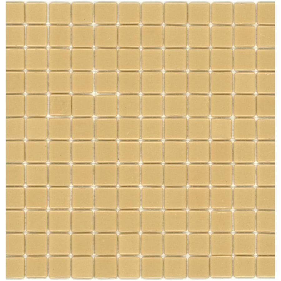 Elida Ceramica Recycled Carmel Ice Glass Mosaic Square Indoor/Outdoor Wall Tile (Common: 12-in x 12-in; Actual: 12.5-in x 12.5-in)