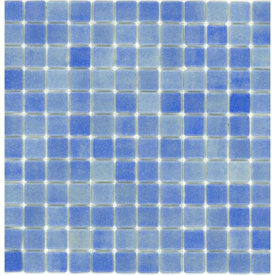Elida Ceramica Recycled Non Skid Sea Glass Mosaic Square Indoor/Outdoor Wall Tile (Common: 12-in x 12-in; Actual: 12.5-in x 12.5-in)