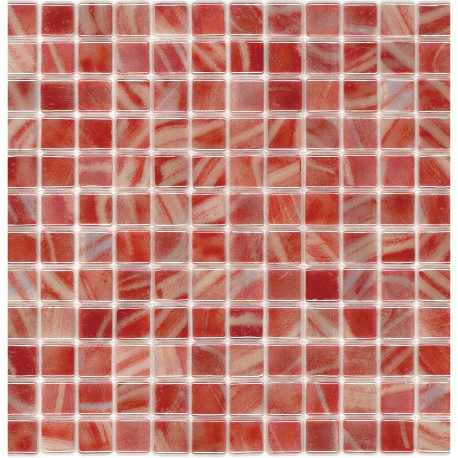 Elida Ceramica Recycled Tomato Glass Mosaic Square Indoor/Outdoor Wall Tile (Common: 12-in x 12-in; Actual: 12.5-in x 12.5-in)