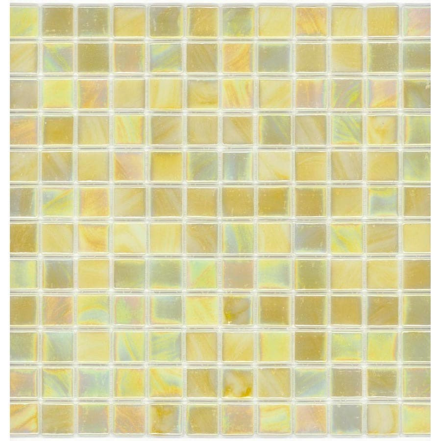 Elida Ceramica Recycled Lemonade Glass Mosaic Square Indoor/Outdoor Wall Tile (Common: 12-in x 12-in; Actual: 12.5-in x 12.5-in)