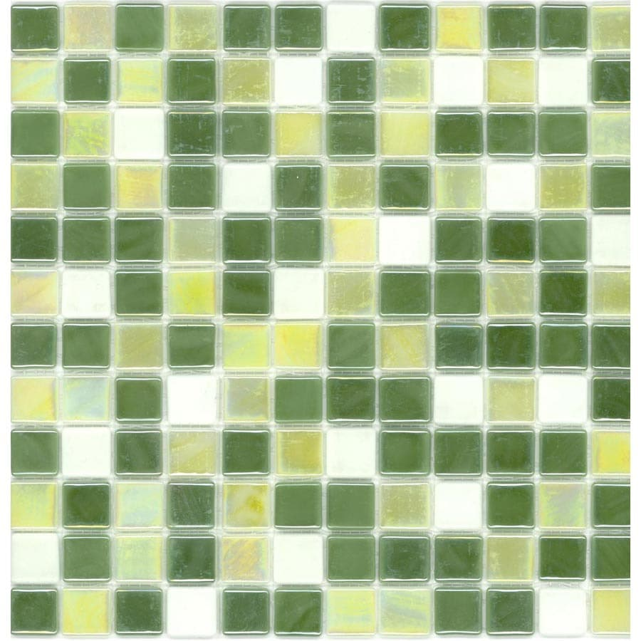 Shop Elida Ceramica 12 12 X 12 12 Recycled Mosaic Grass Glass