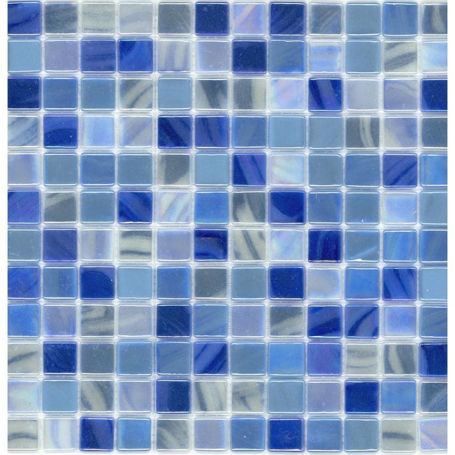 Shop Elida Ceramica Recycled Dolphin Glass Mosaic Square Indoor ...