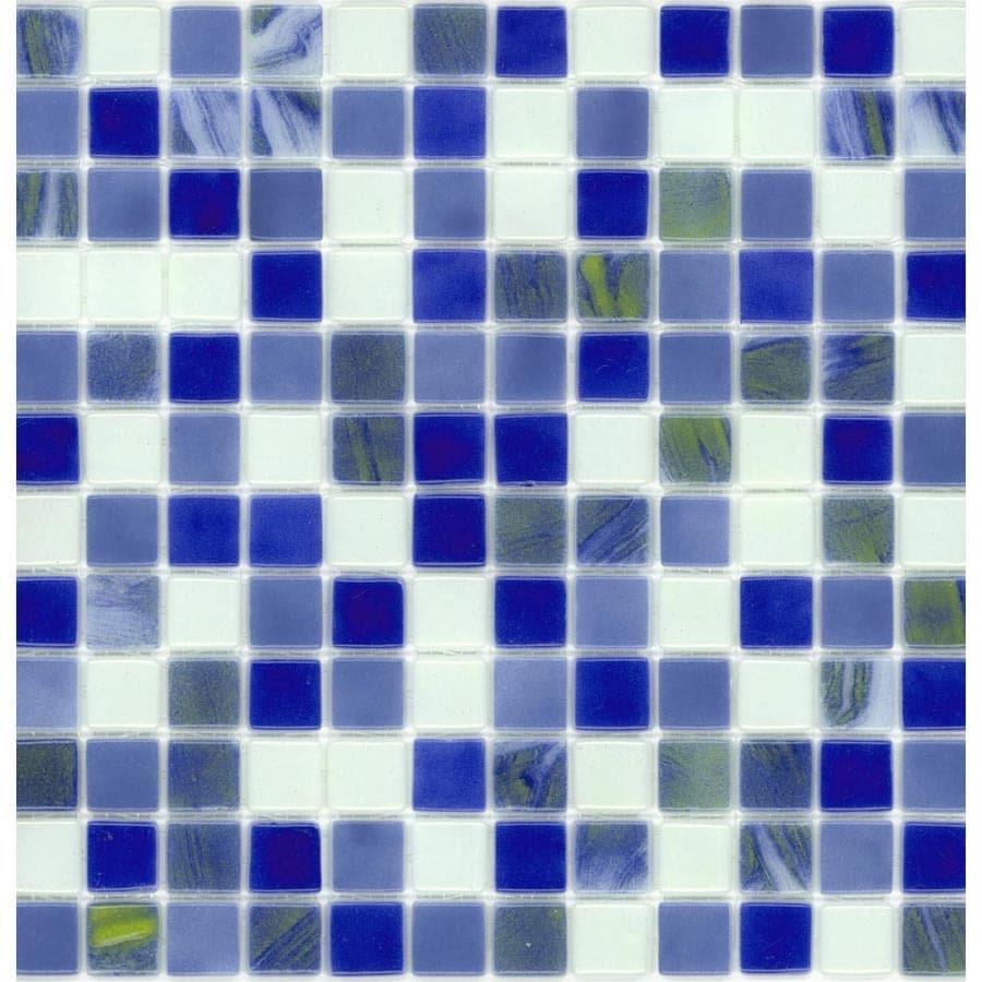 Shop Elida Ceramica Recycled Cloud Glass Mosaic Square Indoor ...