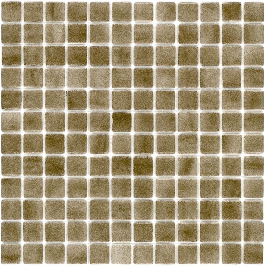 Elida Ceramica Recycled Dune Uniform Squares Mosaic Glass Wall Tile (Common: 12-in x 12-in; Actual: 12.5-in x 12.5-in)