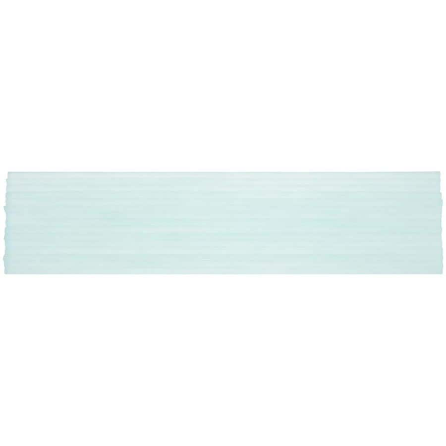 Elida Ceramica Murano Frosted Latte Glass Listello Tile (Common: 3-in x 12-in; Actual: 3-in x 12-in)