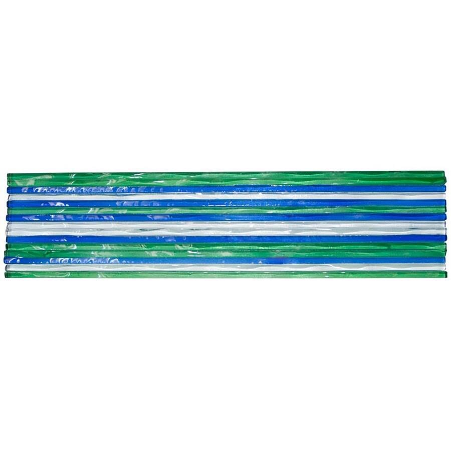 Elida Ceramica Murano Clear Earth Glass Listello Tile (Common: 3-in x 12-in; Actual: 3-in x 12-in)