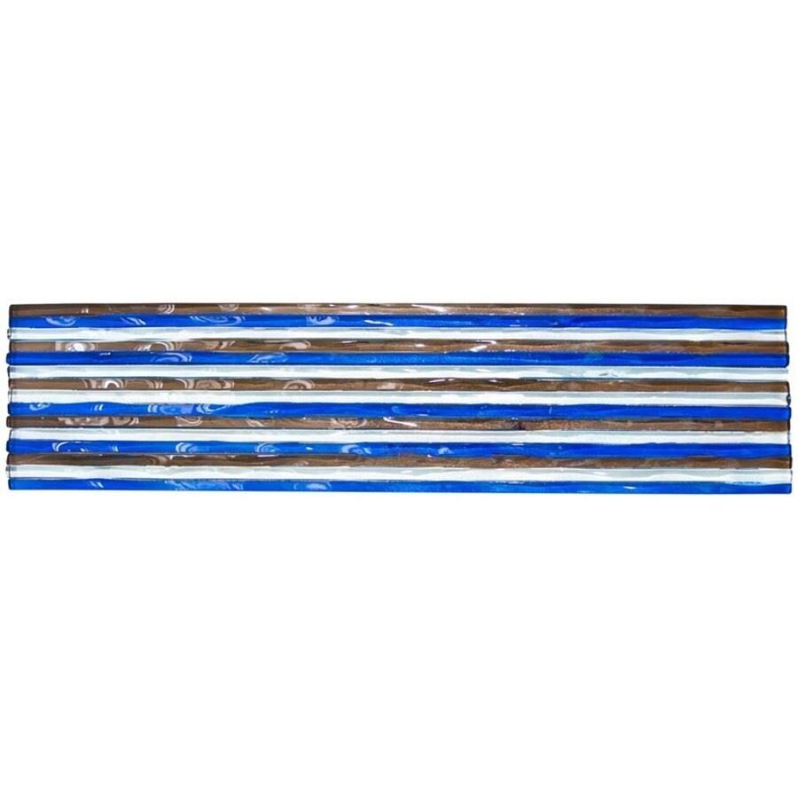 Elida Ceramica Murano Clear Festival Glass Listello Tile (Common: 3-in x 12-in; Actual: 3-in x 12-in)