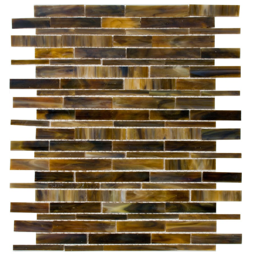 Elida Ceramica Glass Mosaic Tortis Seashell Mosaic Glass Wall Tile (Common: 12-in x 12-in; Actual: 12-in x 13-in)