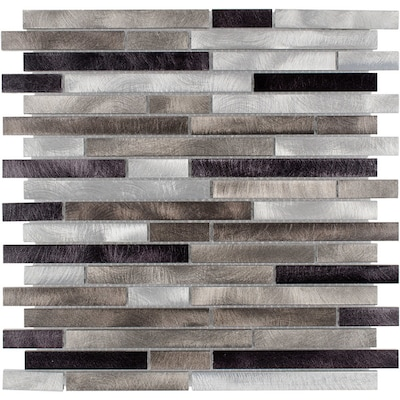 Champagne Mix 12 In X 14 Metal Linear Mosaic Wall Tile Common Actual 11 75