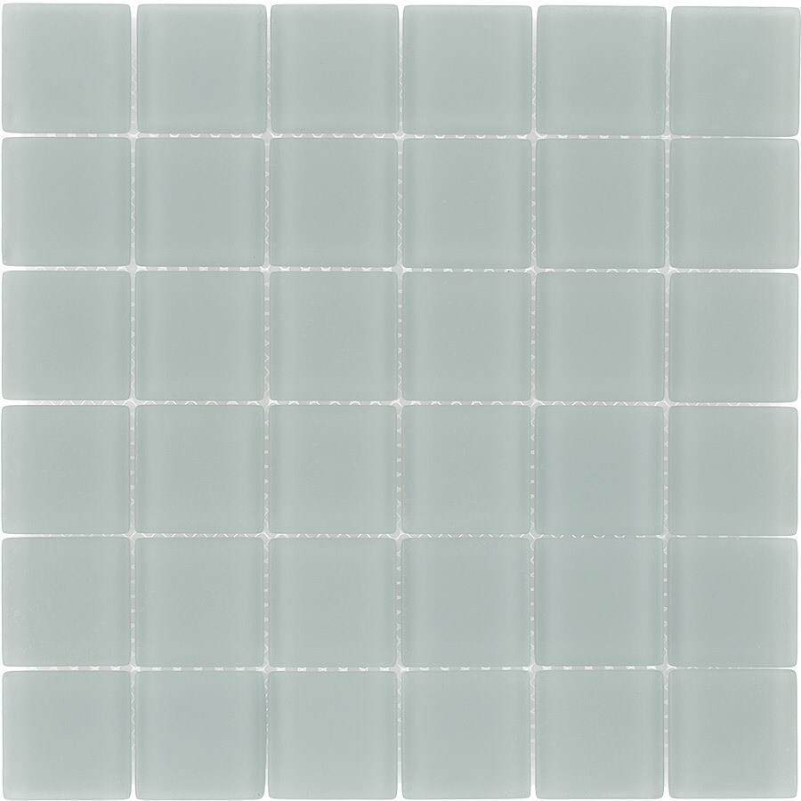 Elida Ceramica Storm Uniform Squares Mosaic Glass Wall Tile (Common: 12-in x 12-in; Actual: 11.75-in x 11.75-in)