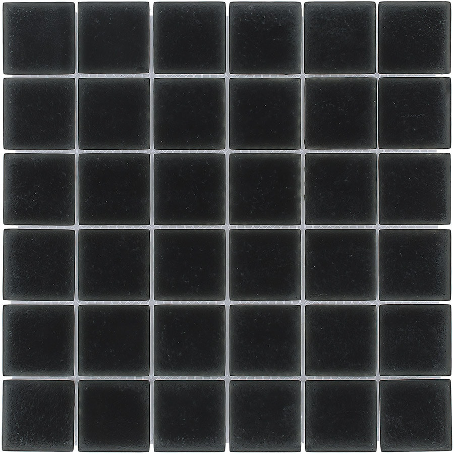 Elida Ceramica Deep Uniform Squares Mosaic Glass Wall Tile (Common: 12-in x 12-in; Actual: 11.75-in x 11.75-in)