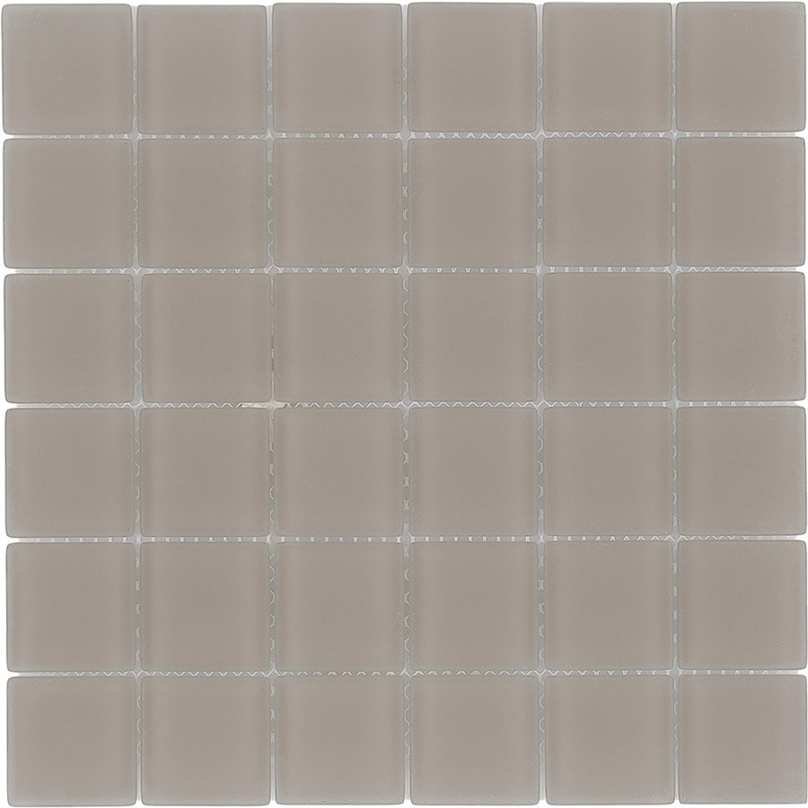 Elida Ceramica Barrel Uniform Squares Mosaic Glass Wall Tile (Common: 12-in x 12-in; Actual: 11.75-in x 11.75-in)