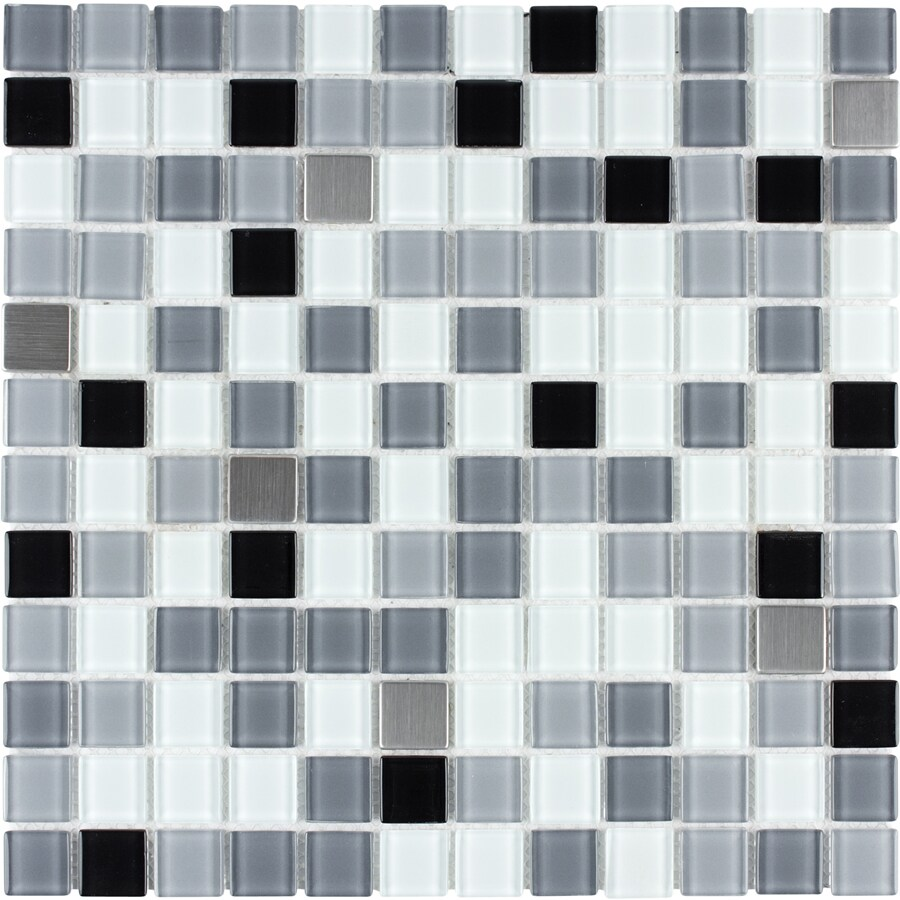 Style Selections Smoke Mixed Material Mosaic Square Wall Tile (Common: 12-in x 12-in; Actual: 11.75-in x 11.75-in)