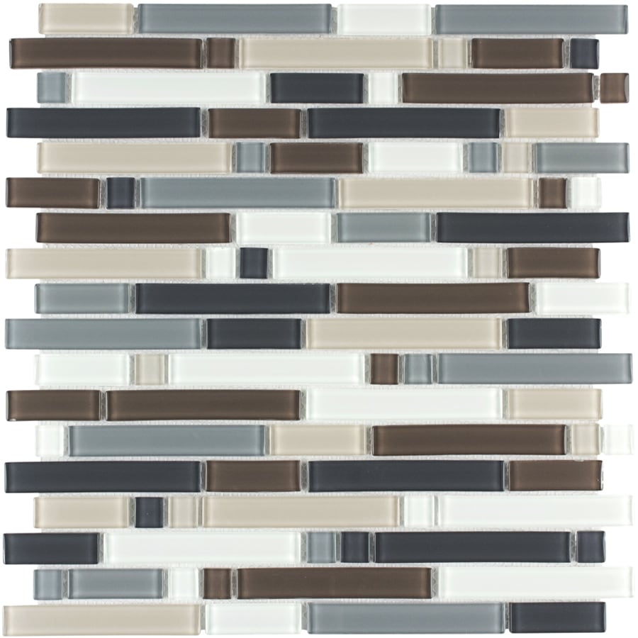 Style Selections Glacier Glass Mosaic Wall Tile (Common: 12-in x 12-in; Actual: 12-in x 12.5-in)