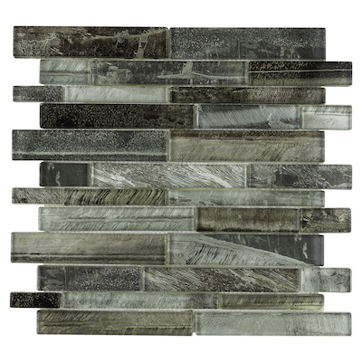 Shimmering Lights 12 In X Gl Linear Wall Tile Common Actual 11 75