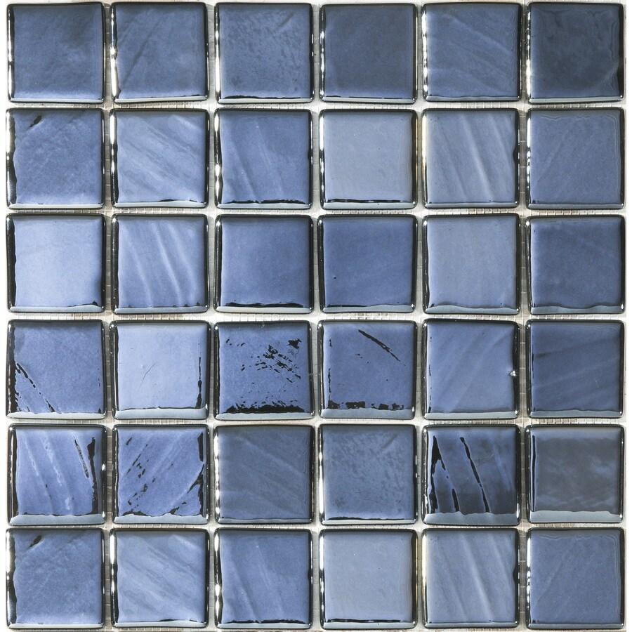 Shop Elida Ceramica Black Pearl Glass Mosaic Square Indoor/Outdoor ...