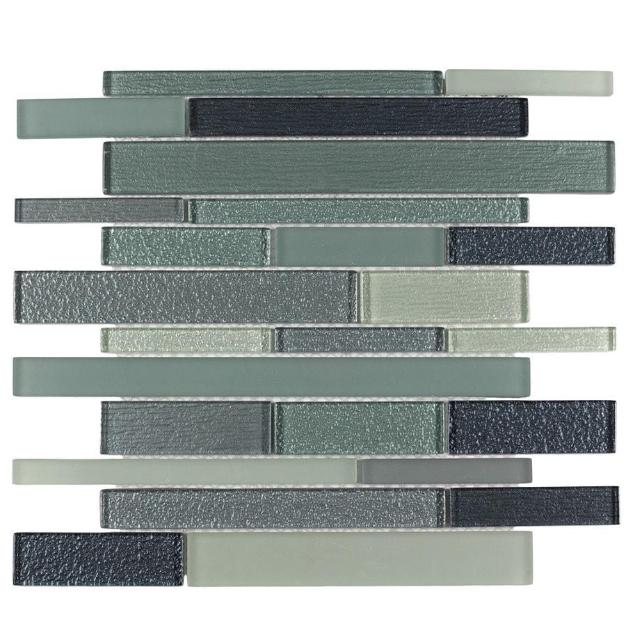 Elida Ceramica Diamonds 12 In X 12 In Glass Linear Mosaic