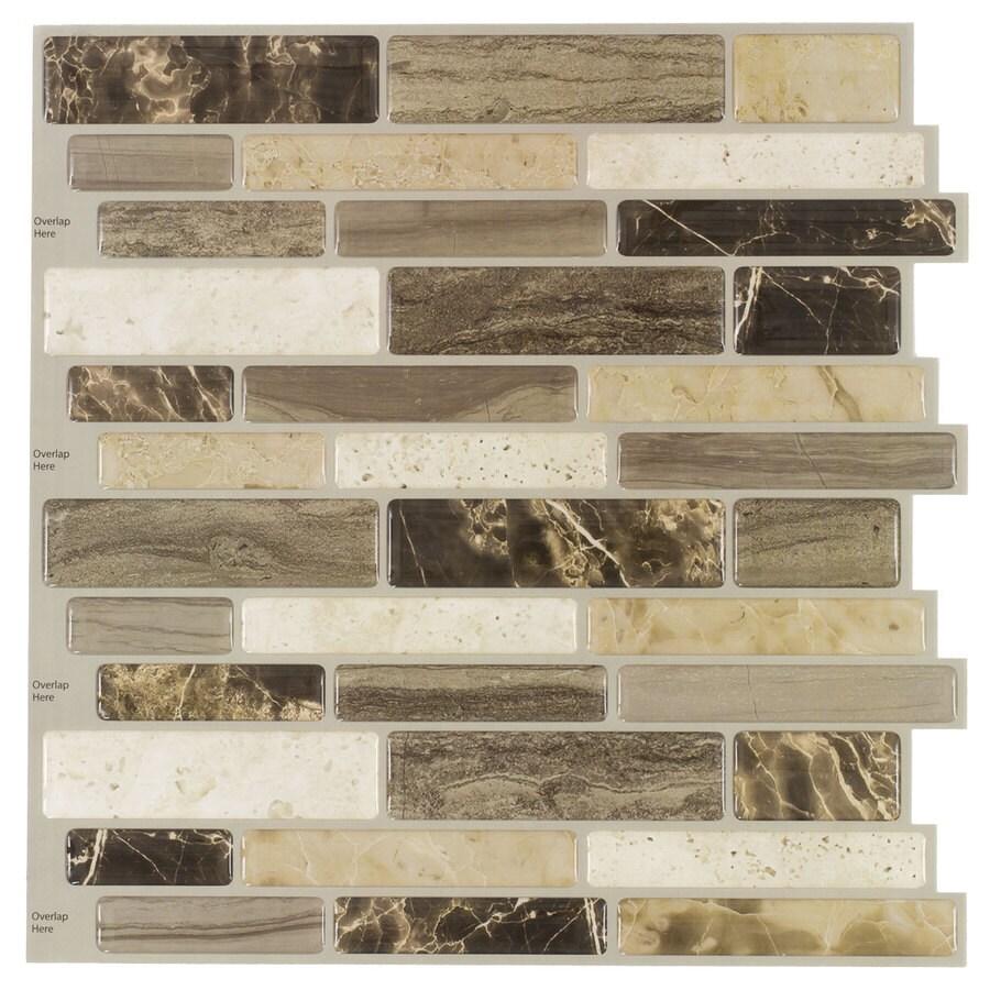 - Elida Ceramica 5-Pack Verona Beige Scale Mosaic Composite Vinyl