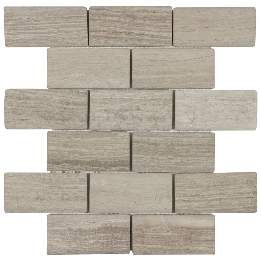 Elida Ceramica Stonegate Mosaic Marble Wall Tile (Common: 12-in x 10-in; Actual: 11.65-in x 9.75-in)