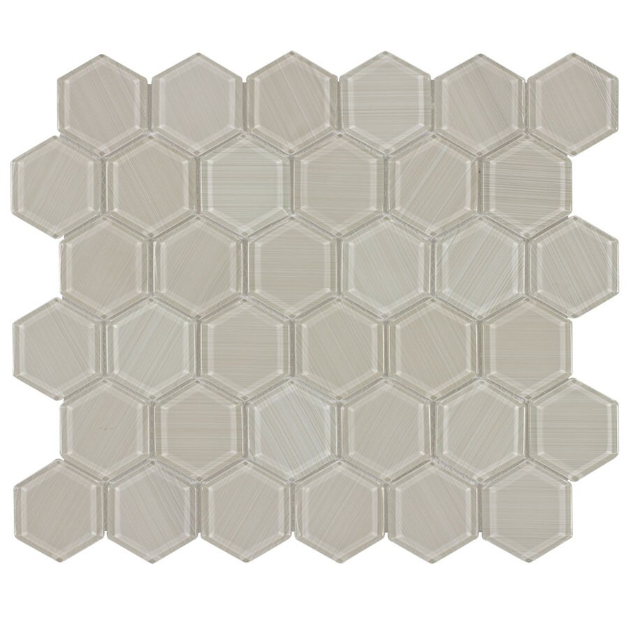 Elida Ceramica Brushed Gl Hex Mosaic Wall Tile Common 12 In X