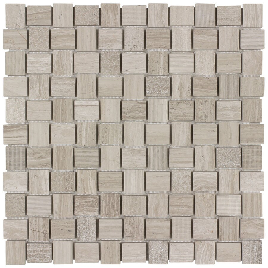 Elida Ceramica Earthstone Basketweave Mosaic Natural Stone Marble Wall Tile (Common: 12-in x 12-in; Actual: 11.75-in x 11.75-in)