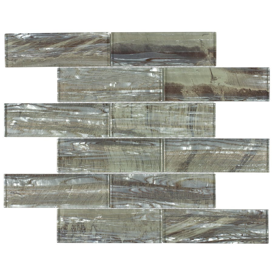 Shop allen + roth Imperial City Mosaic Glass Subway Tile (Common: 12 ...