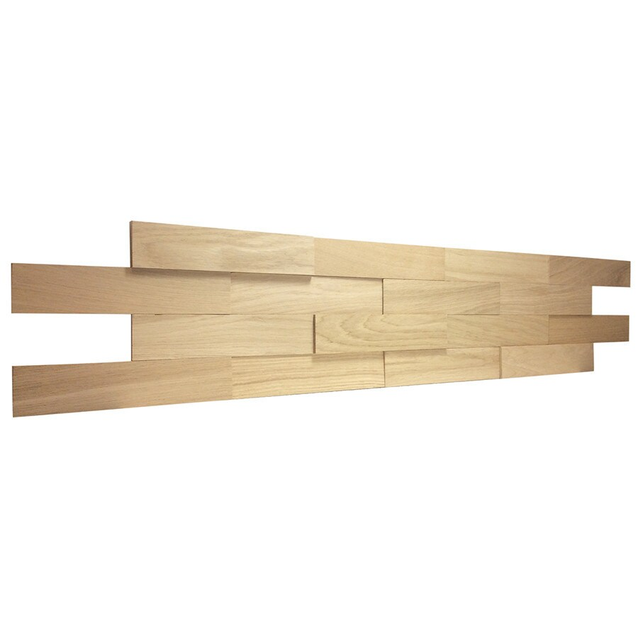 Elida Ceramica 9-Pack Dimensional Wood Panel Linear Wood Look Wood Wall  Tile (Common - Shop Elida Ceramica 9-Pack Dimensional Wood Panel Linear Wood Look