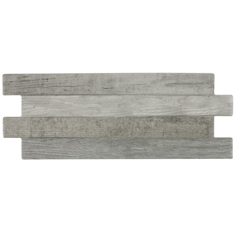 allen + roth Wooden Bluff Linear Porcelain Wall Tile (Common: 6-in x 14-in; Actual: 6.3-in x 15.45-in)