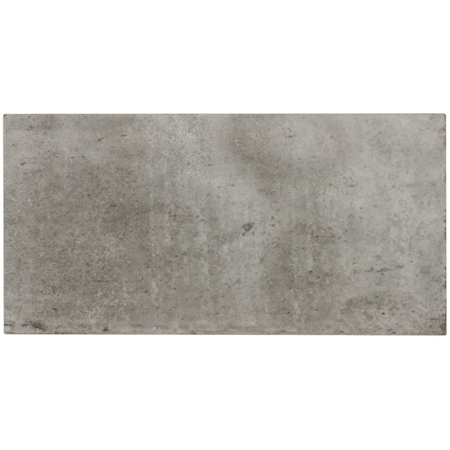 Shop Elida Ceramica Aged Concrete Brick Porcelain Wall Tile Common 6 In X 1