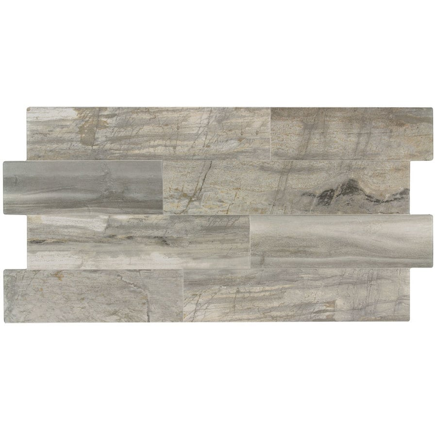 Shop elida ceramica ledgewood stone linear porcelain wall tile common 12 in x 24 in actual Ceramic stone tile