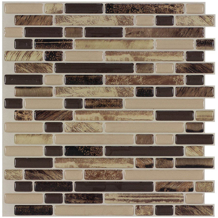 Kitchen Backsplash Tile At Lowes: Peel&Stick Mosaics Rockbridge 10-in X 10-in Composite