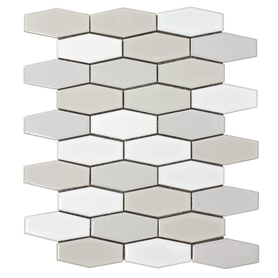 Elida Ceramica Urban Lifestyle Hex Mosaic Ceramic Wall Tile (Common: 12-in x 12-in; Actual: 12.75-in x 10.5-in)