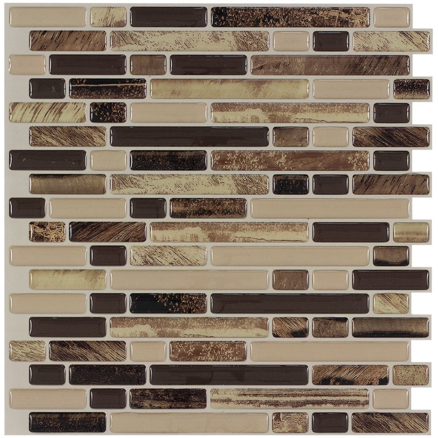 - Peel&Stick Mosaics Peel And Stick 4-Pack Rockbridge 10-in X 10-in