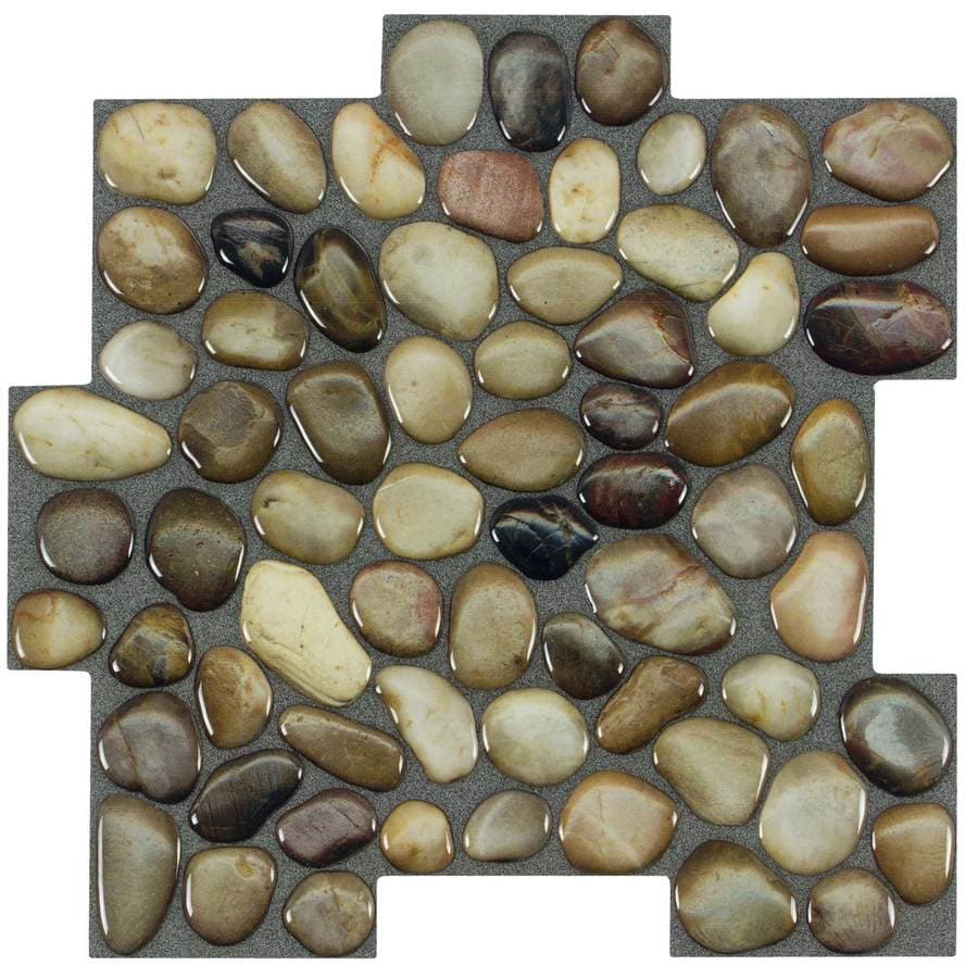 L Stick Mosaics And Rocky Road Composite Linear Mosaic Wall Tile Common 10