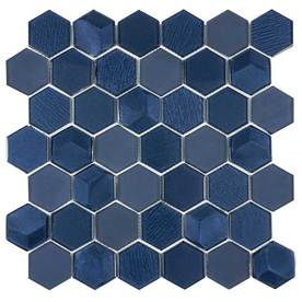 Elida Ceramica Skylight Hex 12 In X Gl Mosaic Wall Tile