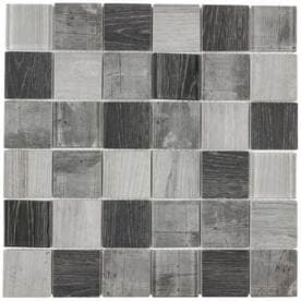 Elida Ceramica Wood Reflections Squares Mosaic Gl Wall Tile Common 12 In X