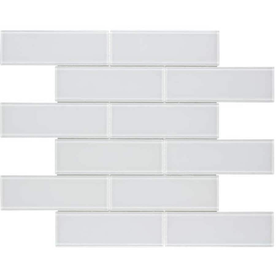 Elida Ceramica Spotlight Subway Mosaic Glass Wall Tile (Common: 2-in x 6-in; Actual: 11.75-in x 11.75-in)