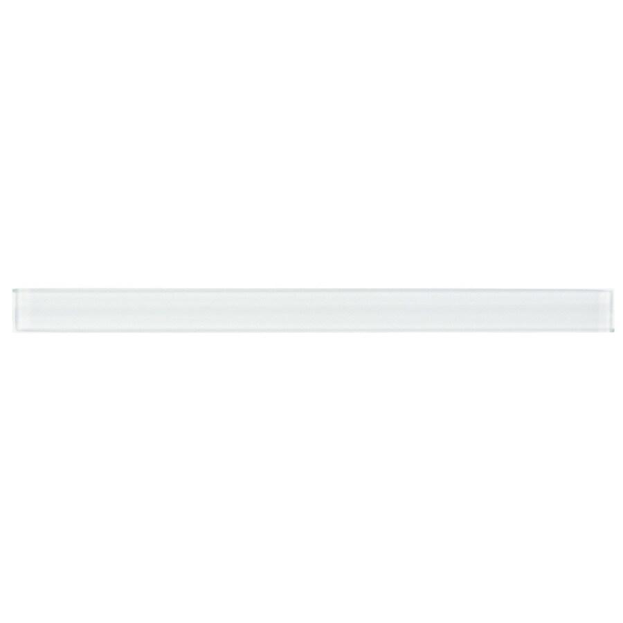 Elida Ceramica Spotlight Glass Pencil Liner Tile (Common: 1-in x 12-in; Actual: 0.75-in x 11.75-in)