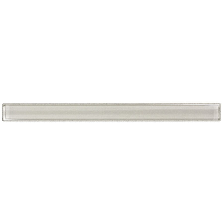Elida Ceramica Highlight Glass Pencil Liner Tile (Common: 1-in x 12-in; Actual: 0.75-in x 11.75-in)