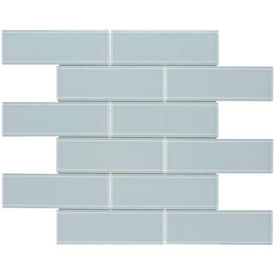 Elida Ceramica Skylight Subway Mosaic Glass Wall Tile (Common: 12-in x 12-in; Actual: 11.75-in x 11.75-in)