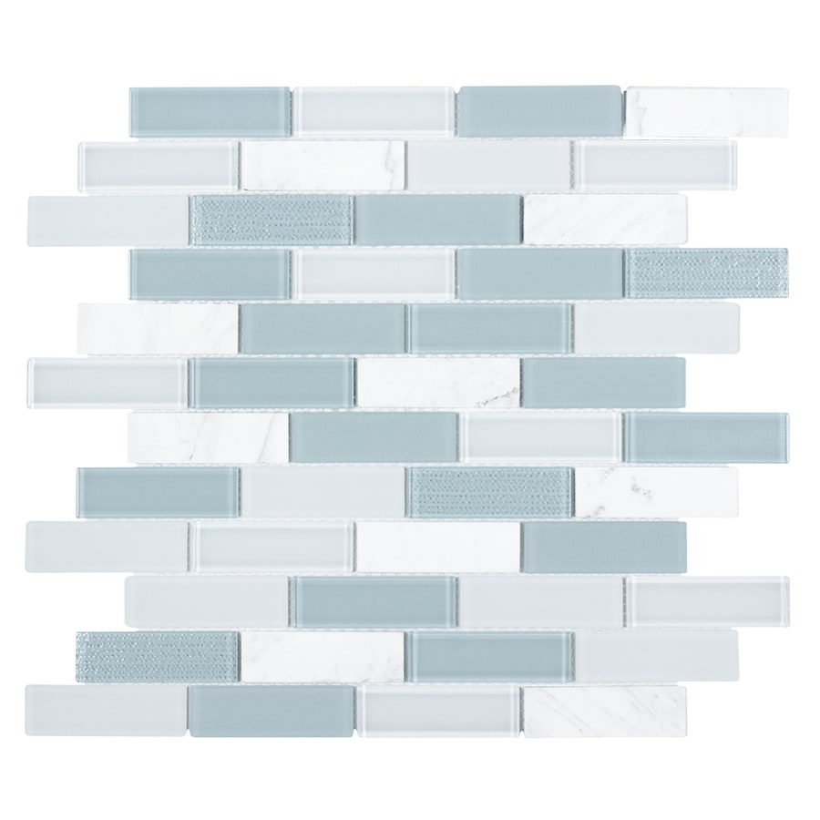 Shop Elida Ceramica Skylight Blended Linear Stone And Glass Mosaic ...