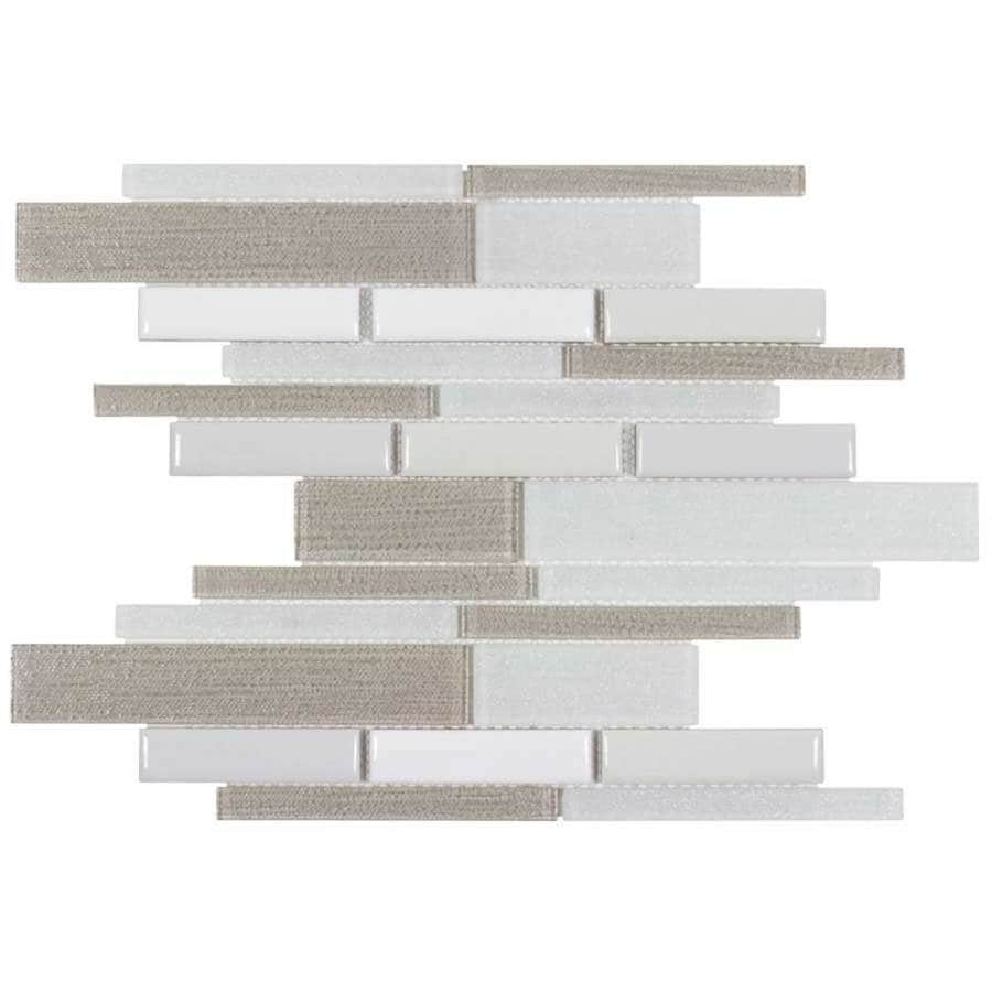 Elida Ceramica Urban Lifestyle Blended Linear Mosaic Stone and Glass Wall Tile (Common: 12-in x 12-in; Actual: 11.81-in x 11.25-in)